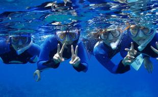 透き通る慶良間の海